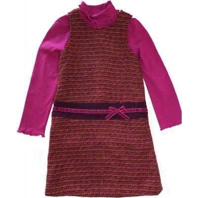 Topo festliches Strickkleid mit Langarmshirt