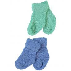 name it 2 Paar Erstliings Vollfrottee Socken Nitwerry blau/grün