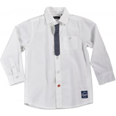 Blue Seven festliches Kragenhemd in weiß 830012