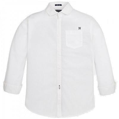nukutavake festliches weißes Kragenhemd leicht gepunktet