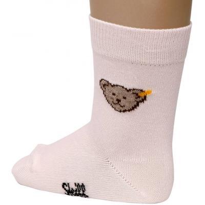 Steiff Mädchen Socken mit Bär 20608 Barely Pink