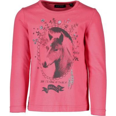 blue seven Mädchen Langarm Shirt mit Pegasus 750563 Berry