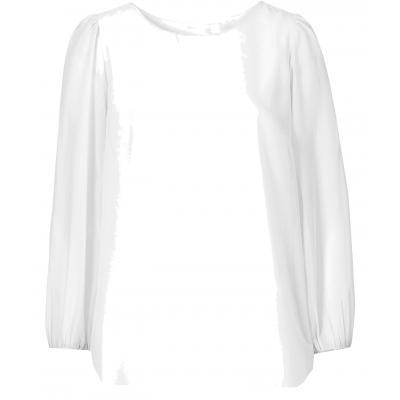 Topo festliche Chiffon Bluse mit transparenten Ärmeln Snow White