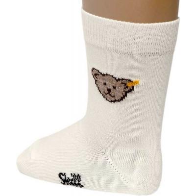 Steiff neutrale Socken mit Bär 120608 Cloud Dancer