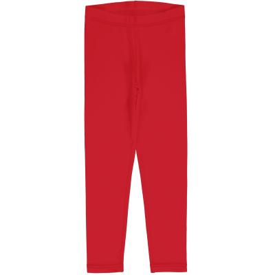 maxomorra lange rote Leggings GOTS Ruby