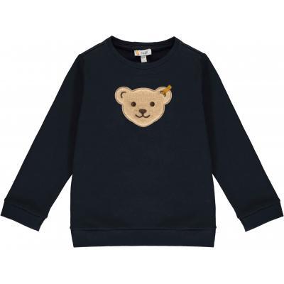 Steiff Sweatshirt mit Quietsche Bär einfarbig Navy (Nachtblau)