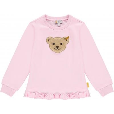 Steiff Mädchen Sweatshirt mit Quietsche Bär Pink Lady