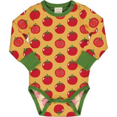 maxomorra Baby Langarm Body mit Tomaten Body TOMATO