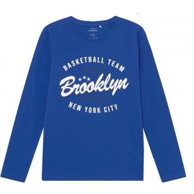 name it Jungen Langarm Shirt nkmVUX in blau