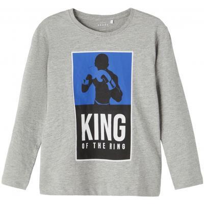 name it Jungen Langarm Shirt King of the Ring in grau