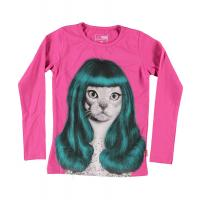 name it Langarmshirt mit Katze Lady Gaga PetsRock
