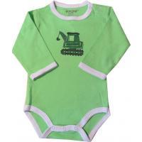 FIXONI Baby Body in grün mit Bagger
