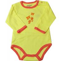 FIXONI Baby Body mit Blumen zitronengelb
