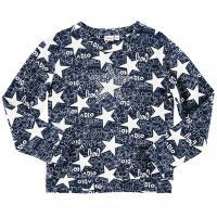 Topo Sweatshirt in blau mit Sternchen