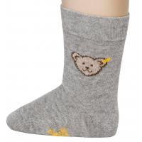 Steiff Baby Socken mit Bär grau 24059