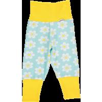 maxomorra Babyhose mit Blumen hellblau/Gelb FLOWER GOTS