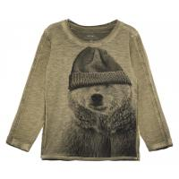 name it mini Shirt nitLEAR Eisbär green Gr. 80