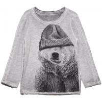 name it mini Shirt nitLEAR Eisbär grau meliert
