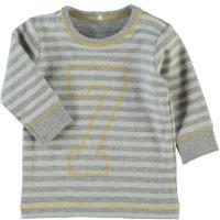 name it Baby Jungen Sweatshirt nitRIPE grau