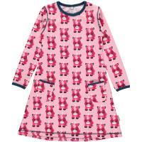 maxomorra Langarm Kleid Einhorn rosa UNICORN