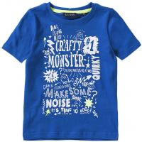 blue seven Jungen Shirt Monster 802091 Blau