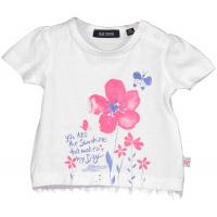 blue seven Baby Mädchen Kurzarm Shirt Weiß
