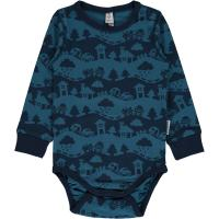 maxomorra Jungen Body Blue Landscape