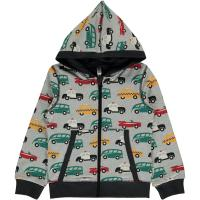 maxomorra Kapuzenjacke mit Autos Cardigan TRAFFIC Gr. 74/80