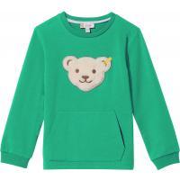 Steiff Sweatshirt mit Quietsche Bär & Kängaruhtasche 3109 Grün