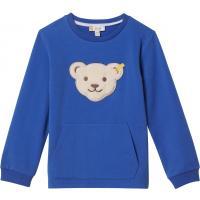 Steiff Sweatshirt mit Quietsche Bär & Kängaruhtasche 3109 Blau