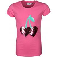 Happy Girls Shirt Wende Wechsel Pailletten Kirsche