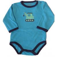 FIXONI Baby Body für Jungen mit Bagger Gr.68