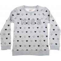 Topo Mädchen Sweatshirt mit Herzchen 670690 Grau