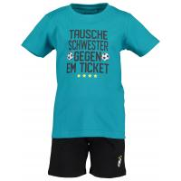 Blue Seven Sport Set Deutschland Fussbal Fan Shirt + Shorts Blau