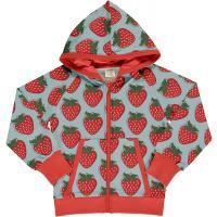 maxomorra Kapuzenjacke Cardigan Hood  mit Erdbeeren STRAWBERRY