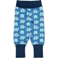 maxomorra blaue Schlupfhose mit Elefanten Pants Rib ELEPHANT FRIENDS