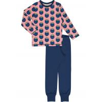 maxomorra Mädchen Schlafanzug Pyjama BLACKBERRY