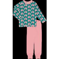 maxomorra Mädchen Schlafanzug Pyjama PEACOCK