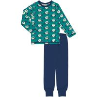 maxomorra Kinder Schlafanzug mit Polizei Autos Pyjama POLICE CAR Gr. 134/140
