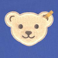 Steiff Langarmshirt mit Quietsche Bär in ultramarine