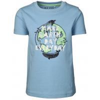 BLUE SEVEN Kurzarm Shirt make earth day Blau 802195