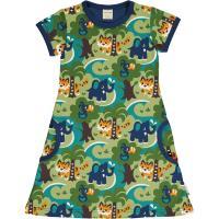 maxomorra Kurzarm Kleid mit Dschungel Motiv Dress JUNGLE