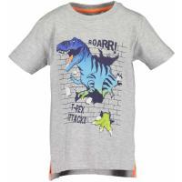 BLUE SEVEN Kurzarm Shirt Dinosaurier Grau