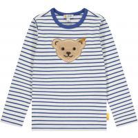 Steiff Langarmshirt mit Quietsche Bär Blau geringelt