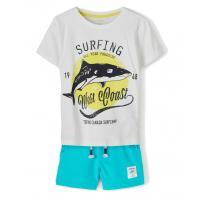 name it 2 teiliges Sommer Set = Shirt + Shorts nmmZHARKON Weß