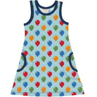 maxomorra Tank Sommerkleid Dress BALLOON in blau