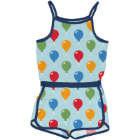 maxomorra Sommer Overall Jumpsuit in blau Jumpsuit Short Balloon