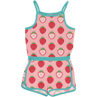 maxomorra Sommer Overall Jumpsuit in rosa Jumpsuit Strawberry