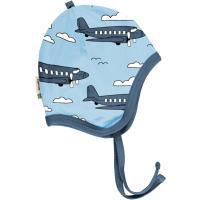 maxomorra Babymütze mit Flugzeugen Helmet AIROPLANE SKY