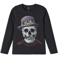 name it Jungen Langarm Shirt nkmNAGAR Black